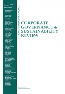 New issue of the Corporate Governance and Sustainability Review journal